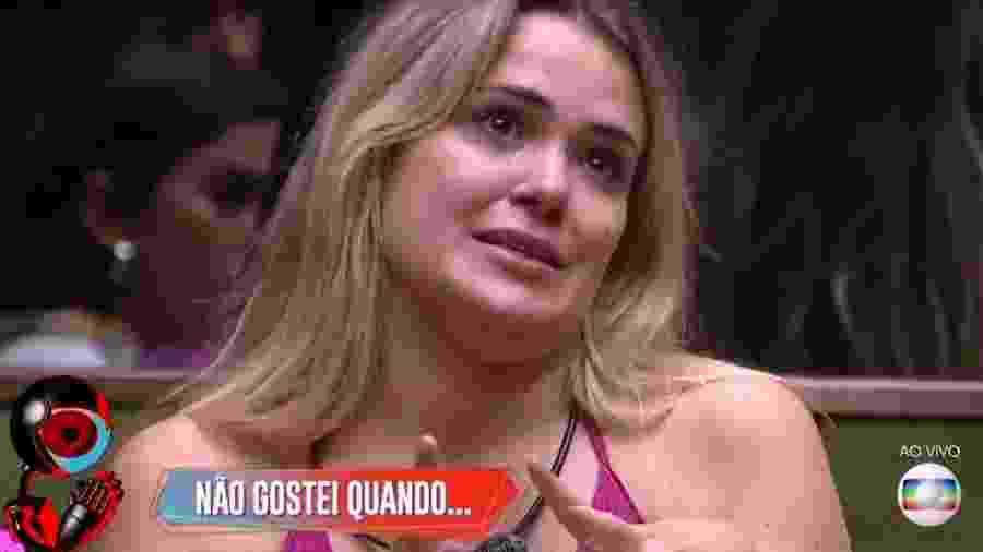 Marcela chora no jogo da discórdia - Reprodução/TV Globo