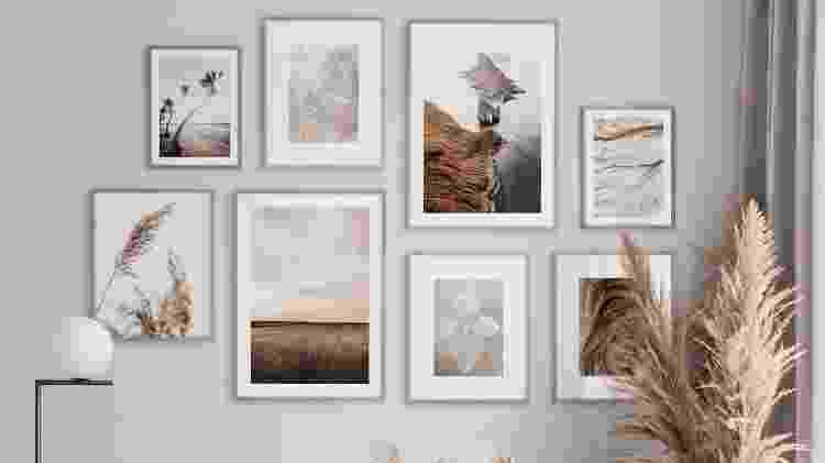 Parede decorada - Reprodução/Pinterest - Reprodução/Pinterest