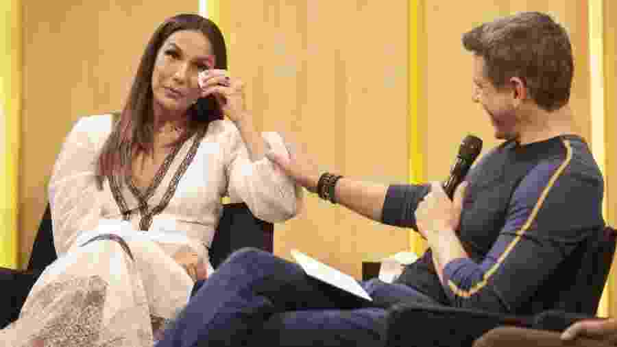 """Ivete Sangalo se emociona no """"Tamanho Família"""" - reprodução/Globo"""