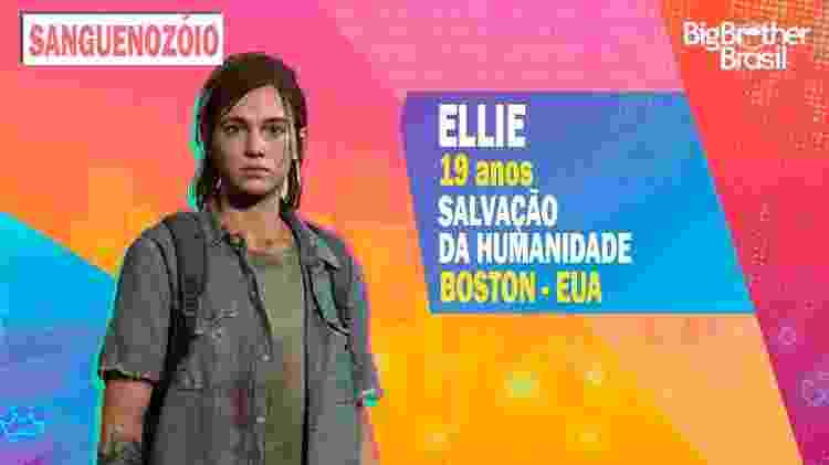 Ellie no BBB - Montagem: Allan Francisco / Divulgação (Sony) - Montagem: Allan Francisco / Divulgação (Sony)