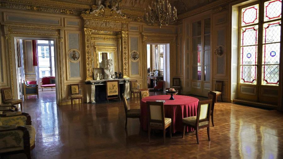 Palais Vivienne, onde teriam acontecido jantares clandestinos em Paris - Thomas COEX / AFP
