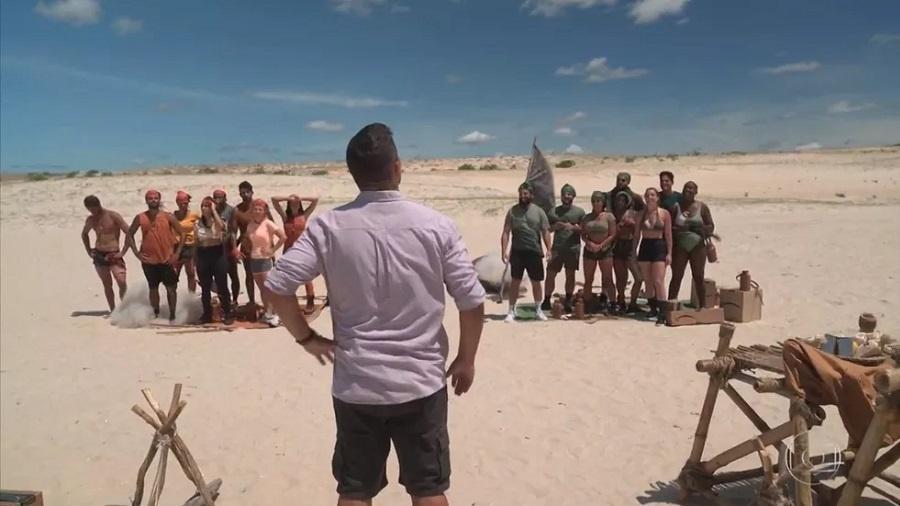 No Limite: André Marques conversa com os grupos Carcará e Calango - Reprodução/Globoplay