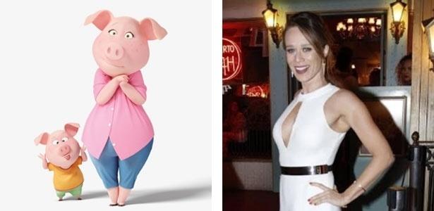 Mariana Ximenes dubla voz a porquinha Rosita na versão brasileira da animação