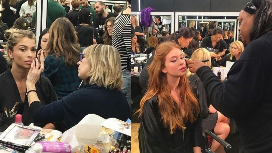 Grazi e Marina se preparam para o desfile da Dolce & Gabbana - Reprodução/Instagram