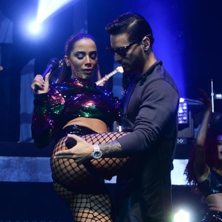 Anitta e Maluma sensualizam em show no Espaço das Américas, em São Paulo - Francisco Cepeda/AgNews
