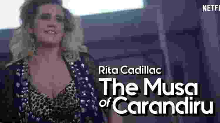 "Rita Cadillac em vídeo da série ""Glow"" - Divulgação/Netflix  - Divulgação/Netflix"