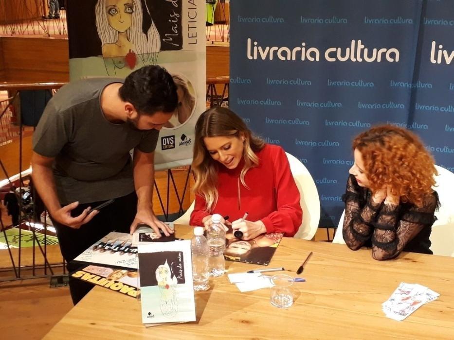 Leticia Spiller lança livro de poemas em São Paulo
