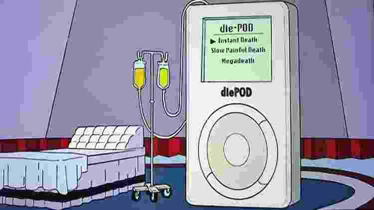 """diePod, máquina de suicídio assistido apresentada em """"Os Simpsons"""" - Reprodução - Reprodução"""