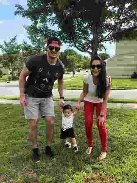 Bárbara e Daniel com o filho, Noah - Arquivo pessoal - Arquivo pessoal