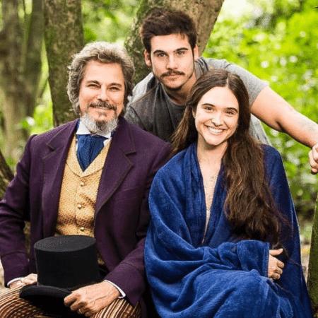 Edson Celulari com Juliana Paiva e Nicolas Prattes - Reprodução/Instagram