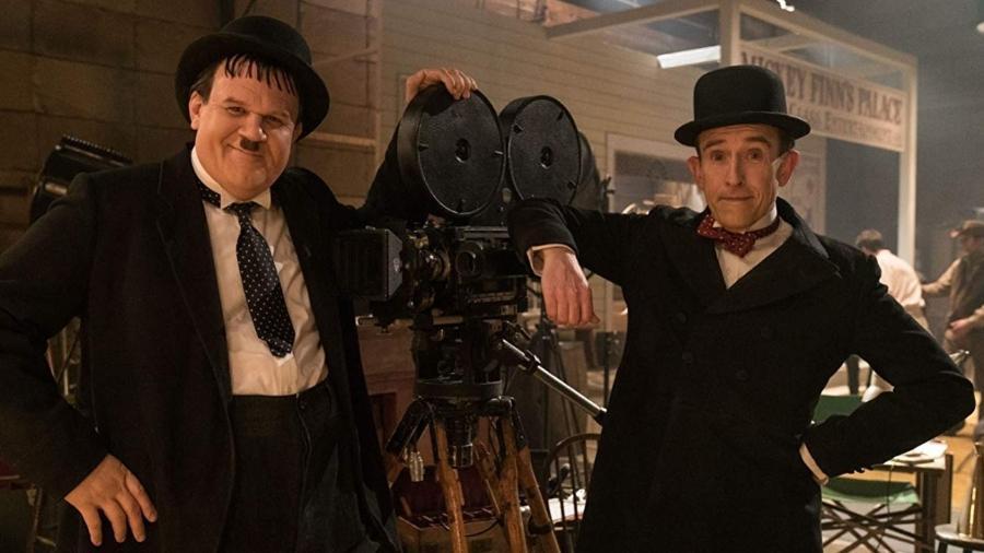 """John C. Reilly e Steve Coogan em cena de """"Stan & Ollie"""" - Reprodução"""