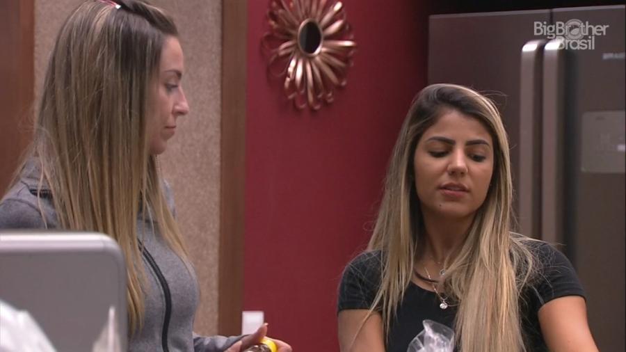 Paula e Hariany conversam sobre Vanderson - Reprodução/TvGlobo