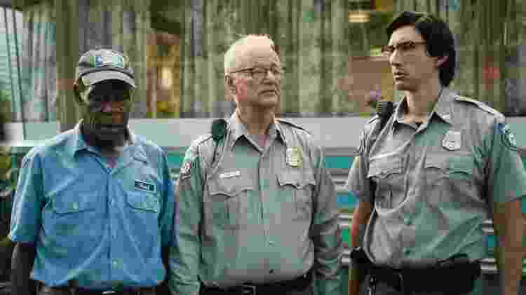 "Cena de ""The Dead Don't Die"", com Danny Glover, Bill Murray e Adam Driver - Divulgação"