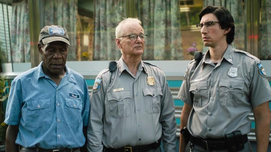 "Cena de ""The Dead Don""t Die"", com Danny Glover, Bill Murray e Adam Driver - Divulgação"
