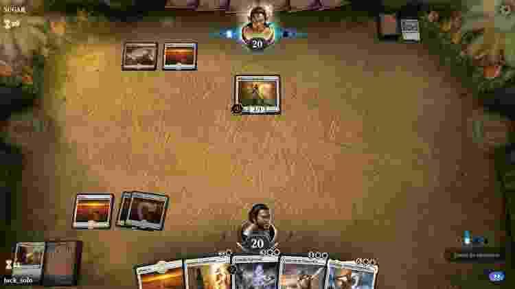 O jogo fornece decks básicos das cinco cores - Reprodução