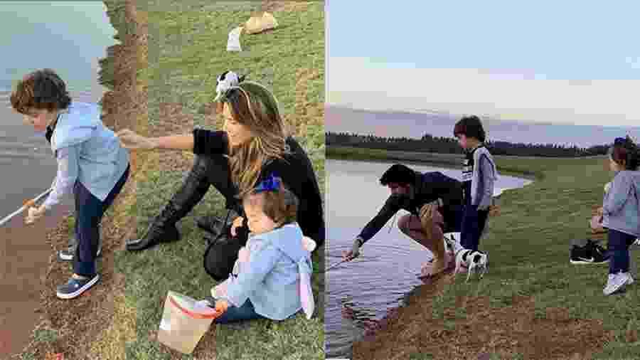 Patrícia Abravanel e Fábio aproveitam domingo em pescaria com os filhos - Reprodução/Instagram
