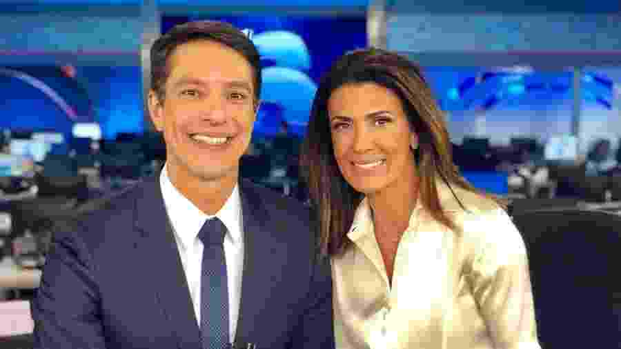 """Sergio Aguiar e Janine Borba apresentarão """"boletins"""" do """"Jornal da Record"""" - Reprodução/Instagram"""