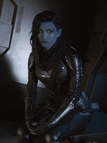 A atriz Gemma Chan em Capitã Marvel - Reprodução