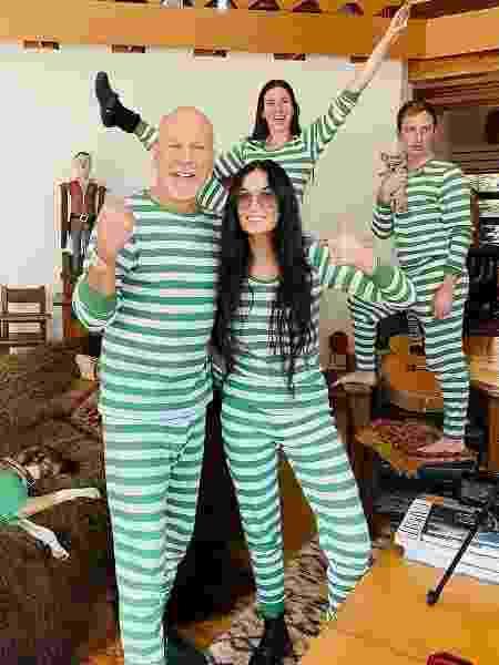 Bruce Willis, Demi Moore em festa do pijama - Reprodução/Instagram