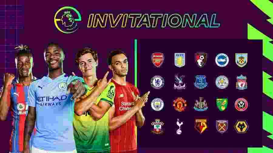 """Raheem Sterling (Manchester City) e Trent Alexander-Arnold (Liverpool) são alguns dos """"pro-players"""" de FIFA no torneio - Divulgação"""