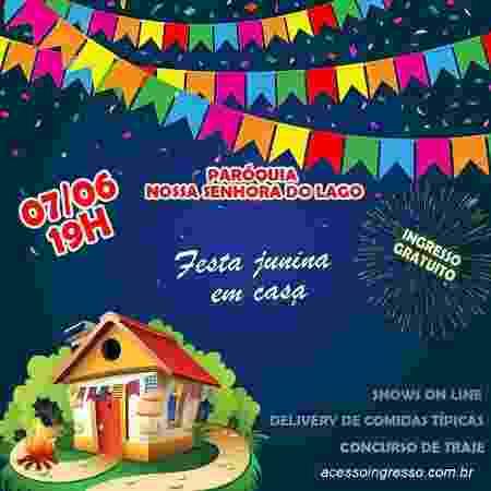 Festa Junina da Paróquia Nossa Senhora do Lago, em Brasília - Reprodução - Reprodução