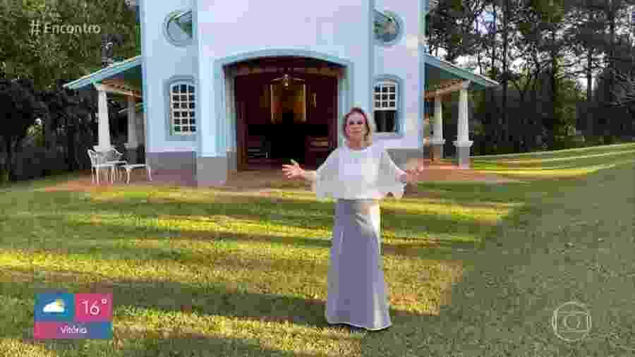 Ana Maria Braga mostra capela de sua fazenda - Reprodução/TV Globo