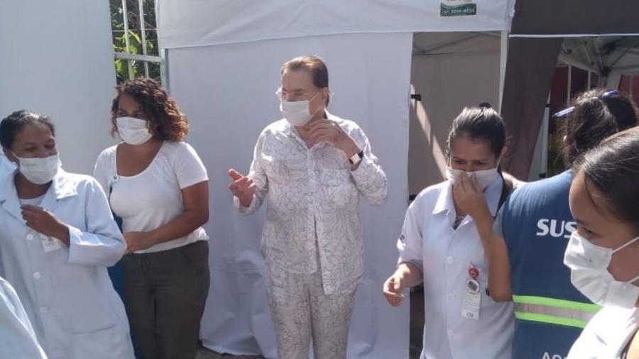 Silvio Santos recebeu a vacina contra a covid-19 - Reprodução/Instagram