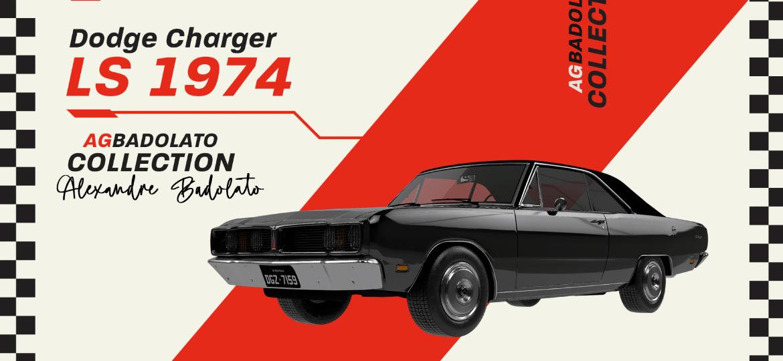 NFT do Dodge Charger LS 1974 preto do colecionador Alexandre Badolato teve todas cem unidades comercializadas em meia hora - Divulgação