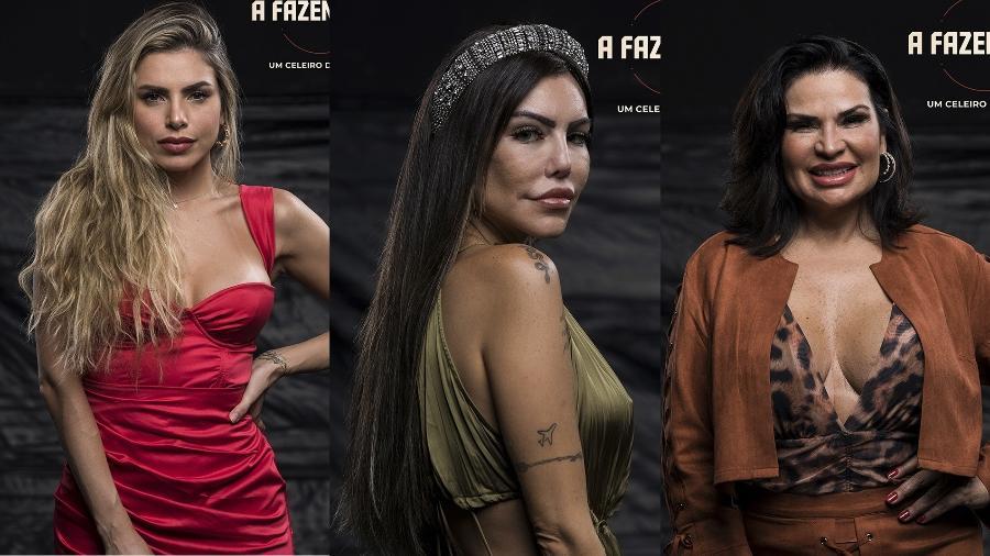 A Fazenda 2021: Erika, Liziane e Solange disputam prova do fazendeiro - GUTIERREZ ANTONIO / RecordTV