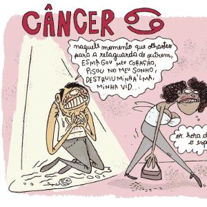 Charge Chiquinha - Câncer - Chiquinha