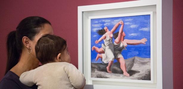 O Instituto Tomie Ohtake realiza atividades com bebês sempre em cima das exposições em cartaz, como a atual mostra de Picasso - Divulgação