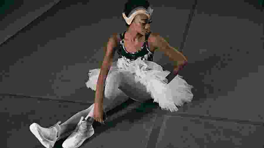 Bailarina do New York City Ballet em campanha para a nova coleção da Puma - Divulgação