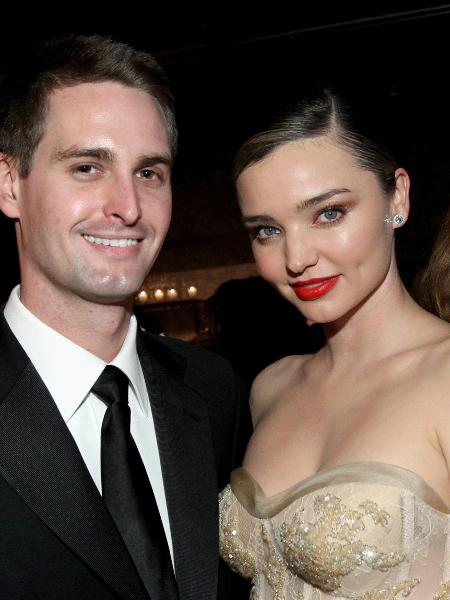 Fundador do Snapchat, Evan Spiegel e a modelo Miranda Kerr  - Tommaso Boddi/Getty Images for Baby2Baby