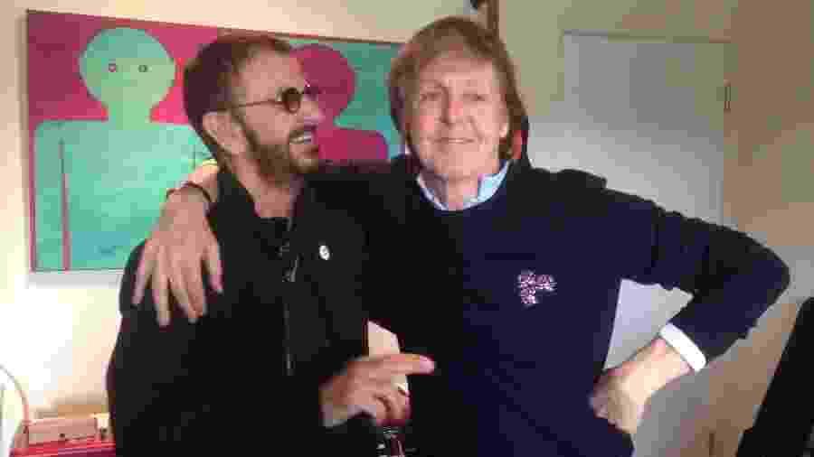 Paul McCartney e Ringo Starr voltam a gravar juntos - Reprodução/Twitter