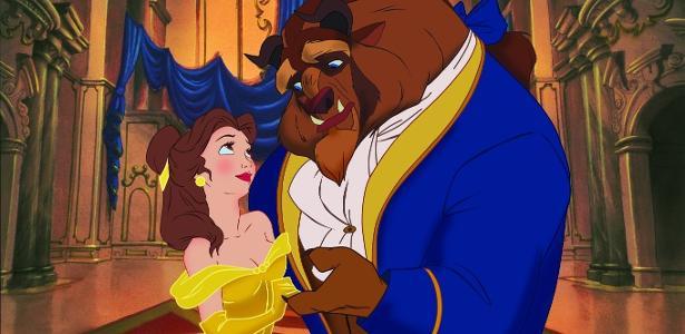 """Cena da animação """"A Bela e a Fera"""" (1991), da Disney"""