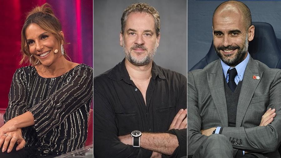 Ivete Sangalo, Dan Stulbach e Guardiola estão em especial sobre Copa de 82 - TV Globo/TV Globo/AFP/Montagem UOL