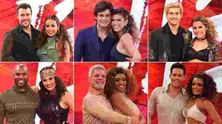 """Os participantes da categoria masculina do """"Dança dos Famosos"""" - Reprodução / TV Globo - Reprodução / TV Globo"""