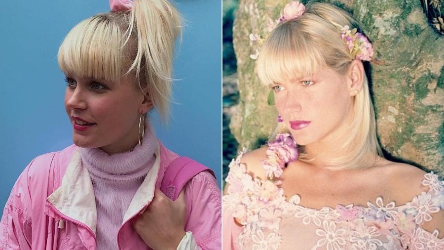 Designer holandesa é descoberta por brasileiros e comparada a Xuxa Meneghel - Montagem/Reprodução/Instagram