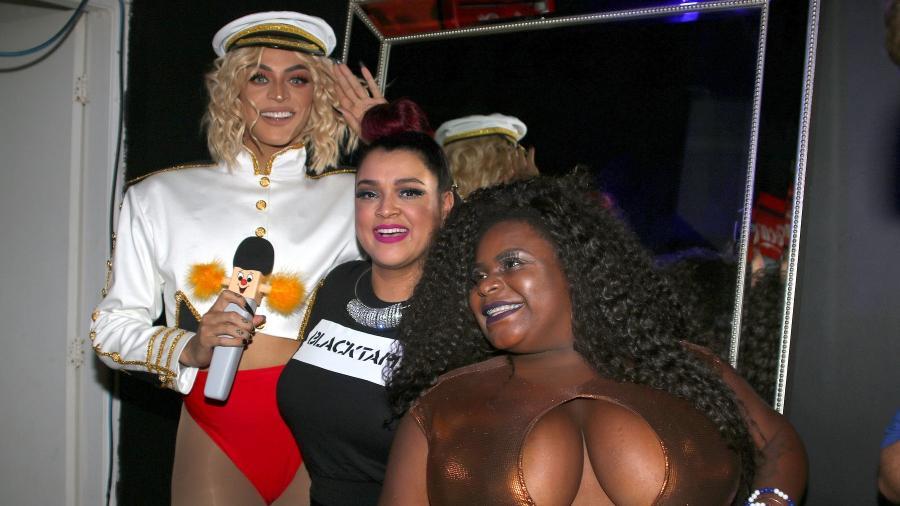 Pabllo, Preta Gil e Jojo Todynho na inauguração da boate Black Tape, no circuito Barra-Ondina - Thiago Duran/AgNews