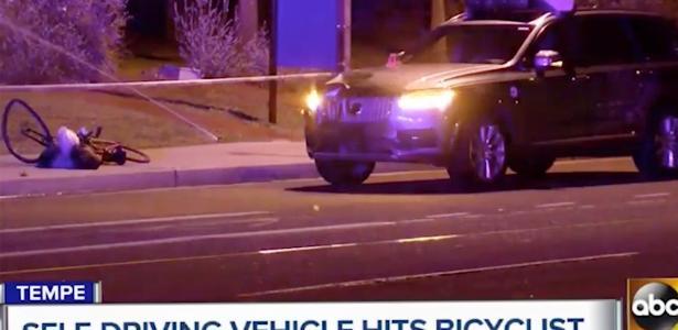 Carro autônomo da Uber matou pedestre no Arizona - Reprodução/ABC
