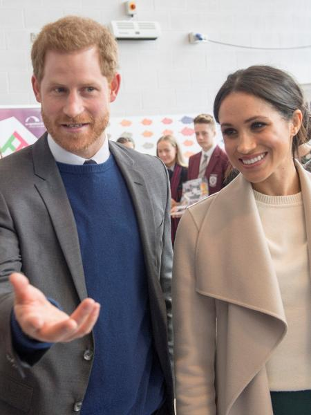 Príncipe Harry e Meghan Markle durante visita a Belfast nesta sexta-feira (23) - Darren Staples/Reuters