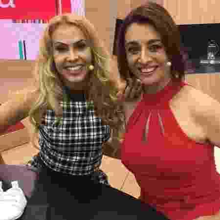 Joelma com a apresentadora Cátia Fonseca  - Divulgação/Band