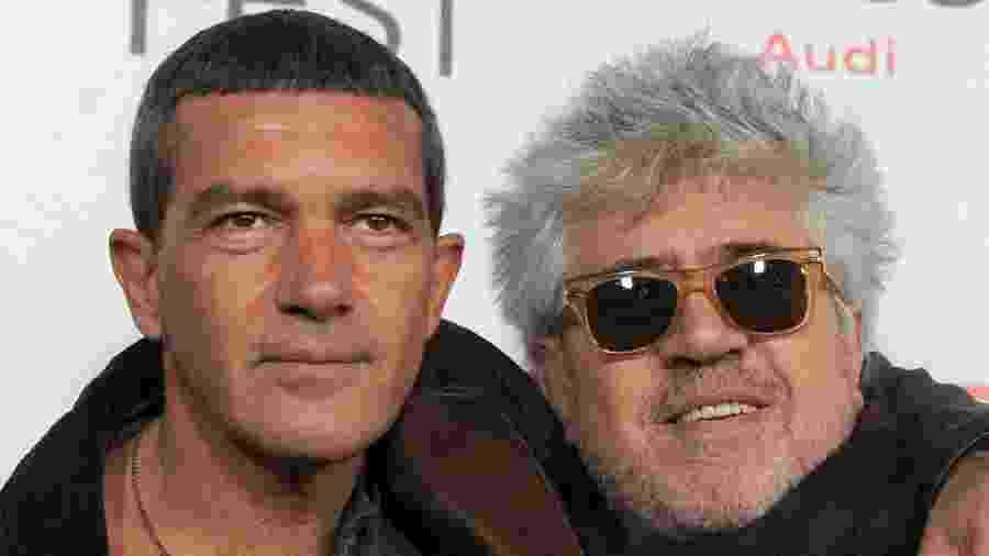 O ator Antonio Banderas e o diretor Pedro Almodóvar participam de festival de cinema em Hollywood, na Califórnia - Kevin Winter/Getty Images for AFI
