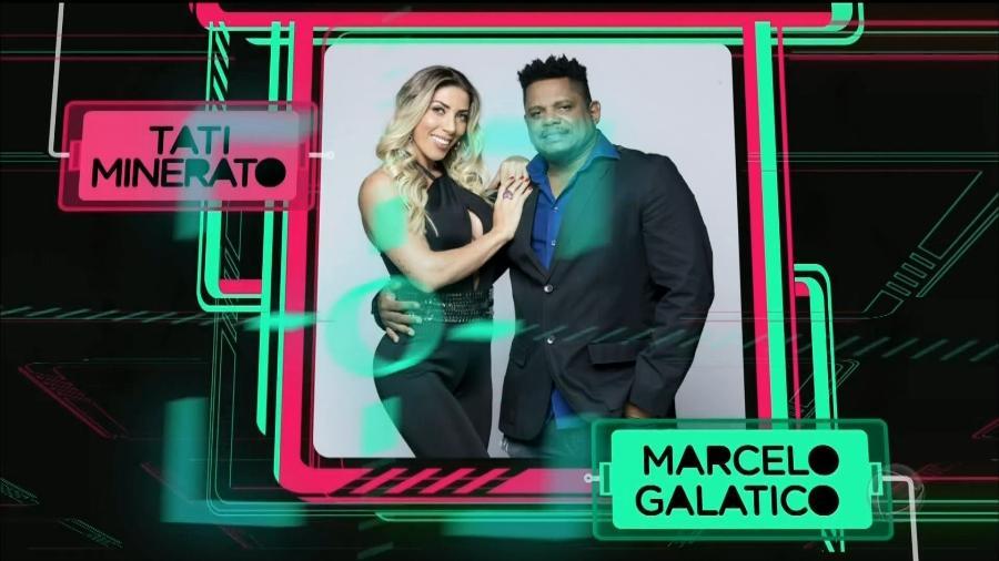 A modelo Tati Minerato e o marido Marcelo Galatico, empresário musical - Reprodução/Record