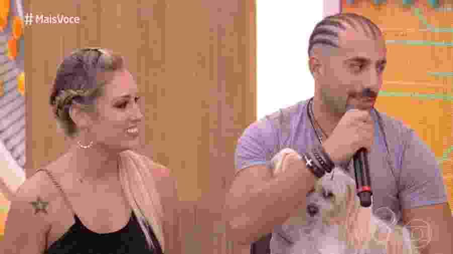 """Jéssica e Kaysar no """"Mais Você"""" - Reprodução/Globo"""