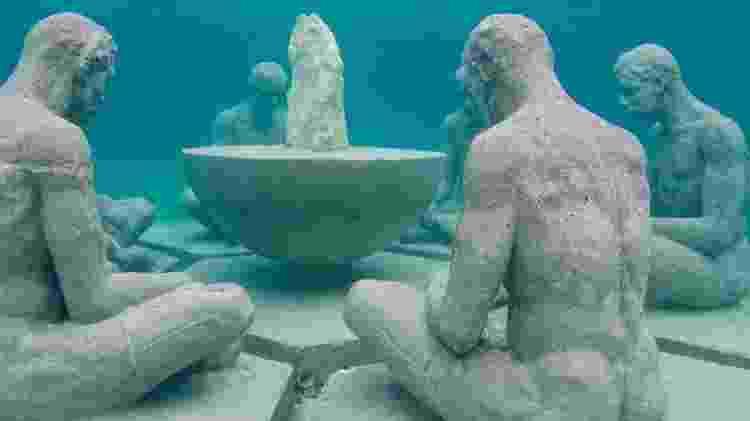 """A obra de arte """"Entendimento"""" faz parte da exibição do Musa, no México - Divulgação/Museu Subaquático de Arte/Elier Amado Gil/The Stills - Divulgação/Museu Subaquático de Arte/Elier Amado Gil/The Stills"""