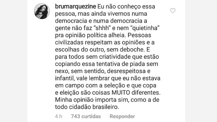 Marquezine rebate piada sobre a Copa após aderir campanha contra Bolsonaro