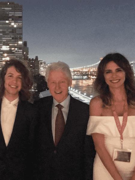 Pierre Thomé de Souza, Lucas Jagger, Bill Clinton e Luciana Gimenez - Reprodução/Instagram