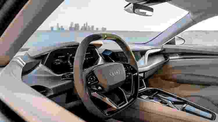 Interior do e-tron GT, o esportivo elétrico do Homem de Ferro, foi concebido sob a supervisão de brasileiro - Divulgação