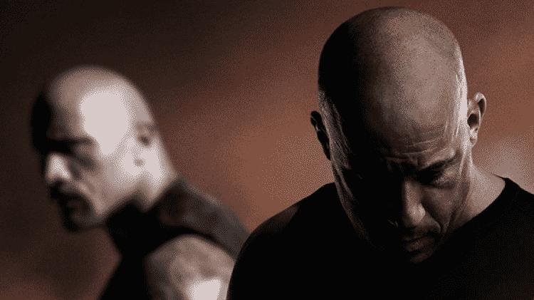 """Vin Diesel e Dwayne """"The Rock"""" Johnson em pôster de """"Velozes e Furiosos 8"""" - Reprodução - Reprodução"""